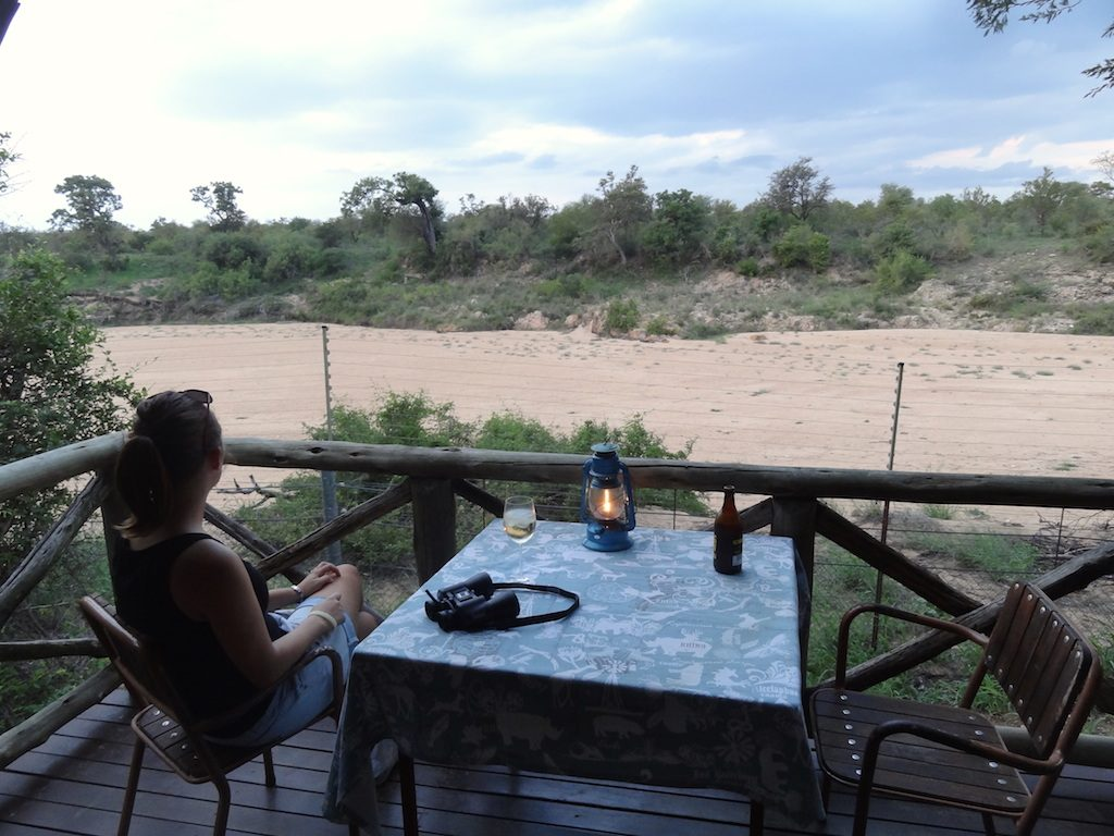 The view from our deck at Tamboti