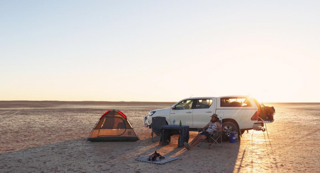 Camping at Verneukpan
